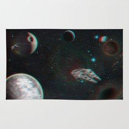 StarWars world 3D Blue+Red anaglyph Rug