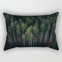 Aerial Photograph of a pine forest in Germany - Landscape Photography Rectangular Pillow