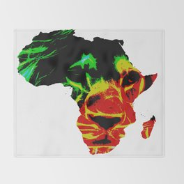 Lion Heart Africa Throw Blanket