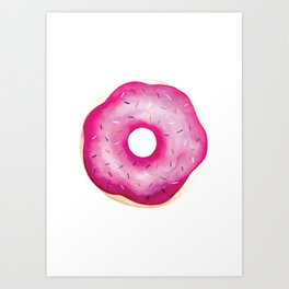 Spangled Donut Art Print