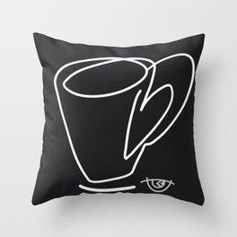 Cuppa Candor [Noir] Throw Pillow