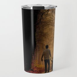 Father and Son in the Woods Travel Mug