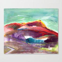 Fan's solo trip in Sicilia Italy- Mountain in Sicilia Canvas Print