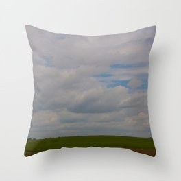Big Land Big Sky Throw Pillow