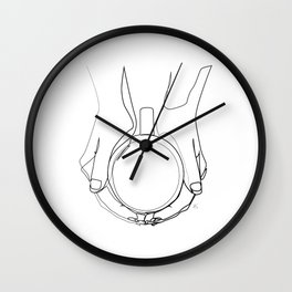 """ Kitchen Collection "" - Hands Holding Hot Cup Of Coffee/Tea Wall Clock"