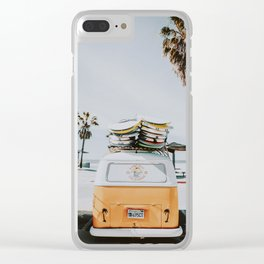 lets surf / venice beach, california Clear iPhone Case