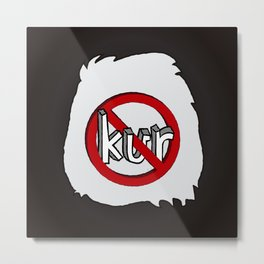 Dun Kur Bear [Don't Care Bear Black/Panda] Metal Print