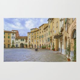 Piazza Anfiteatro, Lucca City, Italy Rug