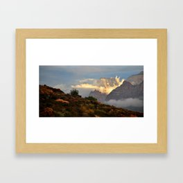 Dream Clouds Zion National Park Framed Art Print