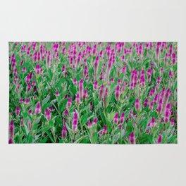 Celosia Flower Field Rug