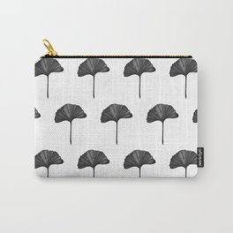 Black Ginko Leaf - Minimalist Nature Carry-All Pouch