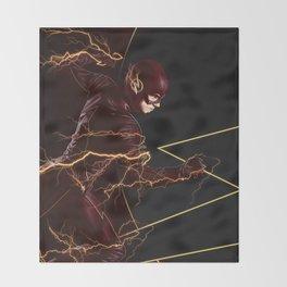The Flash triptych FLASH Throw Blanket