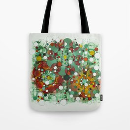 Dark Green Dot Tote Bag