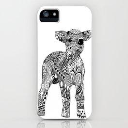 Zentangle Lamb iPhone Case