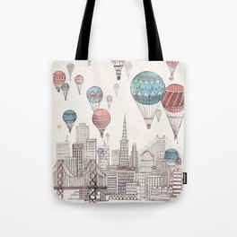 Voyages Over San Francisco Tote Bag