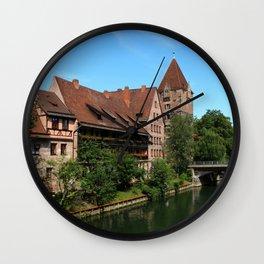 At The Pregnitz - Nuremberg Wall Clock