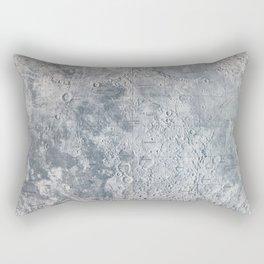 Vintage Lunar Moon Map, 1960s Rectangular Pillow