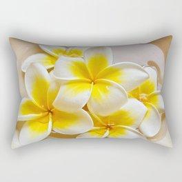 Plumeria Blossoms Rectangular Pillow
