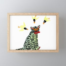 Korean traditional tiger painting by yoonhyehe Framed Mini Art Print