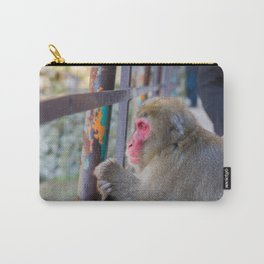 Pensive Snow Monkey Carry-All Pouch