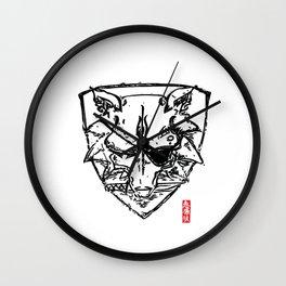 Wolf Shield - Crest Wall Clock