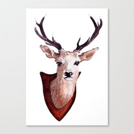 Stags Head Canvas Print