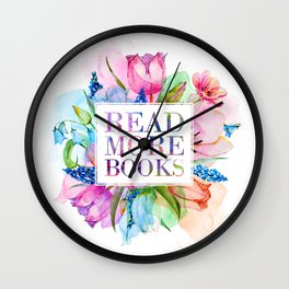 Read More Books Pastel Wall Clock