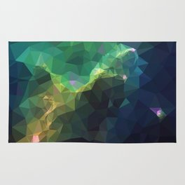 Galaxy low poly 3 Rug