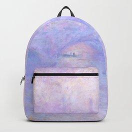 "Claude Monet ""Waterloo Bridge, Effect of Fog"" Backpack"