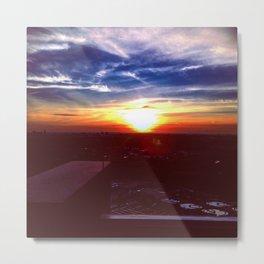 Sunset Rooftop Metal Print