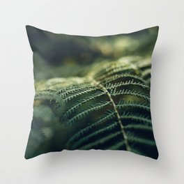 Green and Golden Throw Pillow