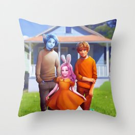 Realistic Gumball Throw Pillow