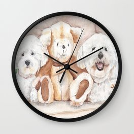 Two Bichons and A Friend Wall Clock