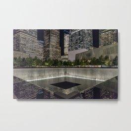 Footprint Fountain - NYC Metal Print