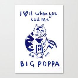 Hip Hop Cat Biggie Smalls Canvas Print