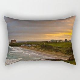 Cornish Seascape Newquay Cornwall Rectangular Pillow