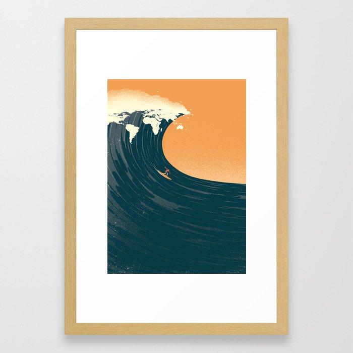Surfing the World Framed Art Print by davidebonazzi | Society6