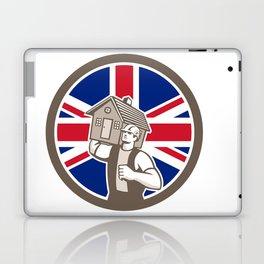 British House Removal Union Jack Flag Icon Laptop & iPad Skin
