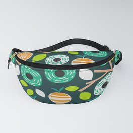 Oranges and flowers Fanny Pack