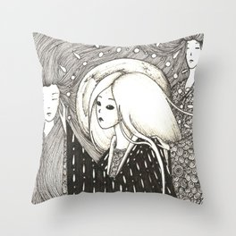 Figures from the past Throw Pillow