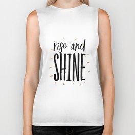 RISE AND SHINE, Inspirational Quote,Motivational Print,Digital Wall Art,Bedroom Decor Biker Tank