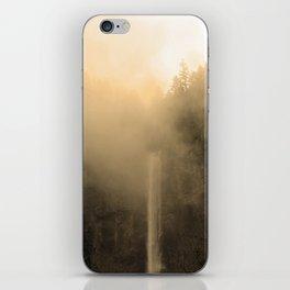 Foggy Multnomah Falls iPhone Skin