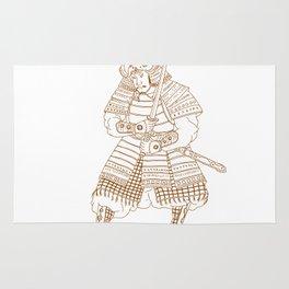 Bushi Samurai Warrior Drawing Rug
