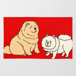 Chow Chow Dog Couple Rug
