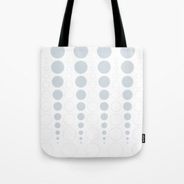Up and down polka dot pattern in white and a pale icy gray Tote Bag