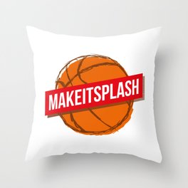 Make it splash Throw Pillow