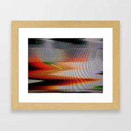 CRT_Flare Framed Art Print