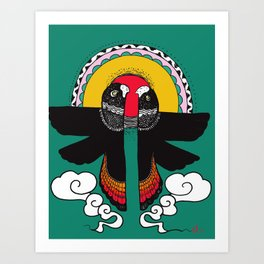 Spirit Birds- Red Tails  Art Print