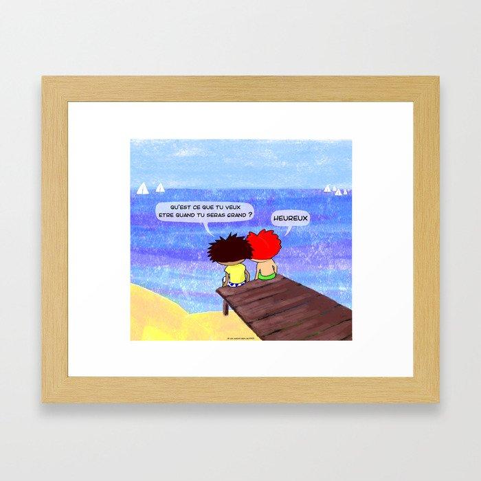 quand je serai grand(e)... Framed Art Print