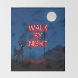 Walk by Night Throw Blanket